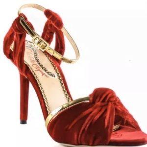 BRAND NEW Charlotte Olympia Red Velvet Heels